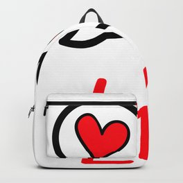 Love - Red hearts Backpack