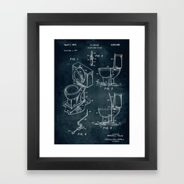 1967 - Toilet seat lifter patent art Framed Art Print