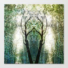 Bamboo Forest Geometry Canvas Print