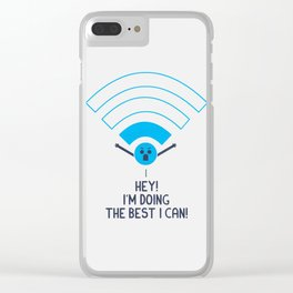 Angry Wifi Clear iPhone Case