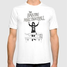 The Amazing Magic Eightball SMALL White Mens Fitted Tee
