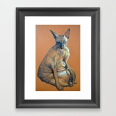Mad Catter Framed Art Print