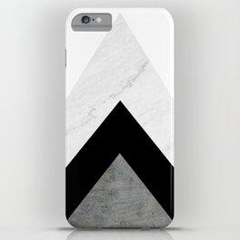 Arrows Monochrome Collage iPhone Case