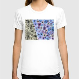 Circles and Flowers- Blue T-shirt