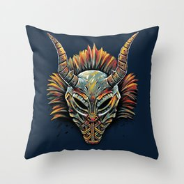 Killmonger Tribal Mask Throw Pillow