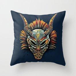 Killmonger Tribal Mask Throw Pillow
