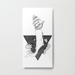 Whale Wreck Metal Print