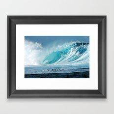 Epic wave art Framed Art Print