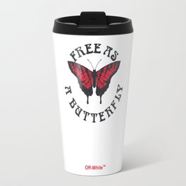 Off-White Butterfly Travel Mug