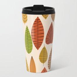 Geometric Leaves Travel Mug