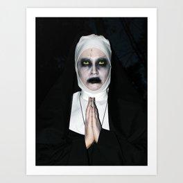 Valak Praying Art Print