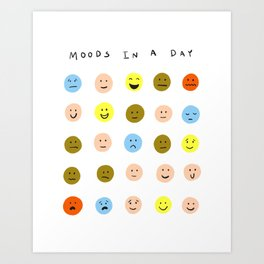 Moods In a Day Art Print