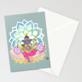 Lord Ganesh in Lotus throne Stationery Cards