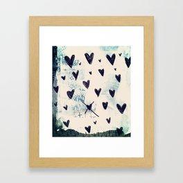 Black Hearts Framed Art Print