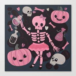 Love Potion Skeleton Dance Canvas Print