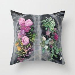 Pneumoflora X-Ray Throw Pillow