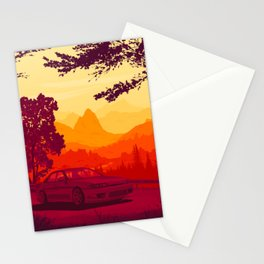 Touge Gradient 01 Stationery Cards