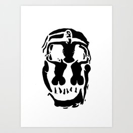 Surrealistic skull inspired by Salvador Dali photo Art Print