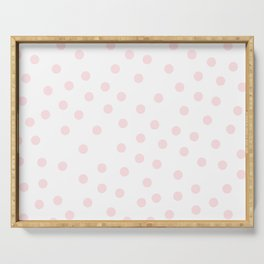 Simply Dots in Pink Flamingo Serving Tray