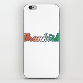 St. Patricks Day Is Right Around The Corner. This Simple Drinking Design Is A Winner T-shirt iPhone Skin