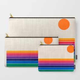 Coolie - retro 70s style throwback sunset sunrise socal cali beach vibes Carry-All Pouch