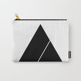 Triangle Minimal Deep Cut White Carry-All Pouch