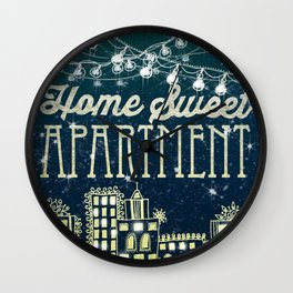 Home Sweet Apartment Wall Clock