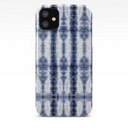 Tiki Shibori Blue iPhone Case