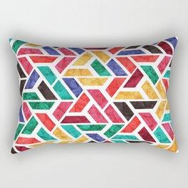 Seamless Colorful Geometric Pattern X Rectangular Pillow