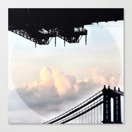Cloudy with a Hint of Bridge Canvas Print