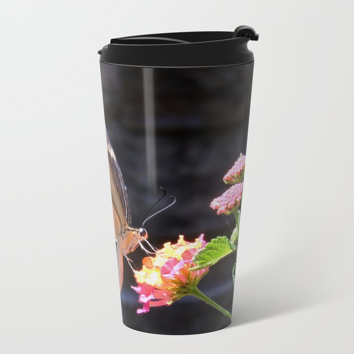 Swallowtail Overexposed Metal Travel Mug