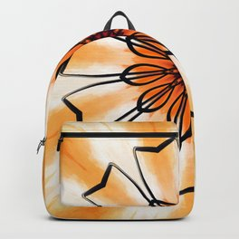 Marigold Flower Mandala Design Backpack