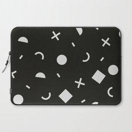 Black & White Memphis Pattern Laptop Sleeve