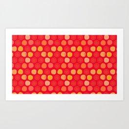 Citrus, Slice, Yellow, and Orange Art Print