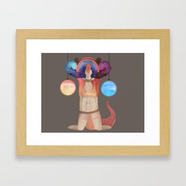 Window to the mind Framed Art Print