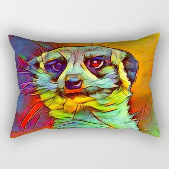 Animal ArtStudio -funky meerkat Rectangular Pillow