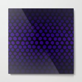 Purple Eggplant Ombre Dots Metal Print