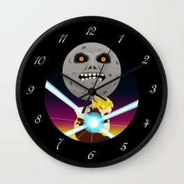 Goku VS Moon Wall Clock