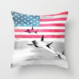 Air Force USA USAF Throw Pillow