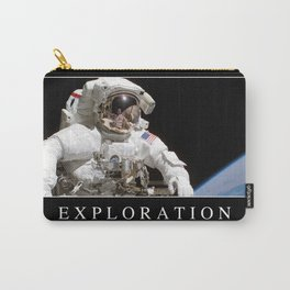Exploration: Inspirational Quote and Motivational Poster Carry-All Pouch