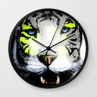tigger Wall Clocks featuring Tigger by yumifuji