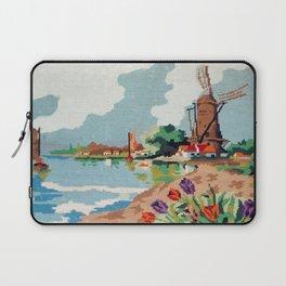 Cross stitch Windmill Laptop Sleeve
