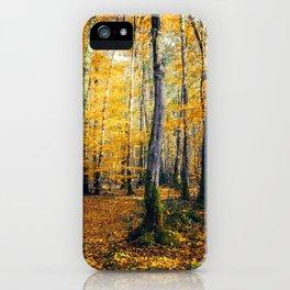 Yellow Trees iPhone Case