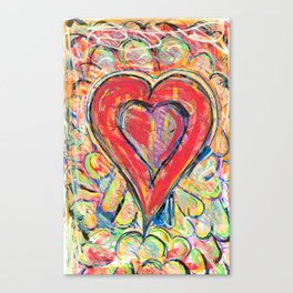Jasper Heart Canvas Print