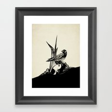 Crows must never win Framed Art Print