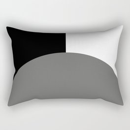 Basic Bold Pantone Pewter and Black and White Rectangles Rectangular Pillow