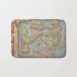 Super Mario World Map (Vintage Style) Bath Mat