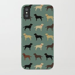 Labrador Retriever Dog Silhouettes Pattern iPhone Case
