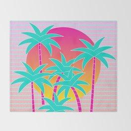 Hello Miami Sunset Throw Blanket