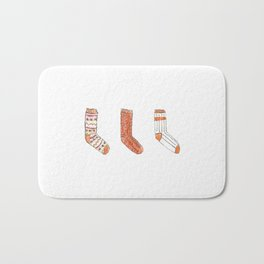 Autumn Socks Bath Mat
